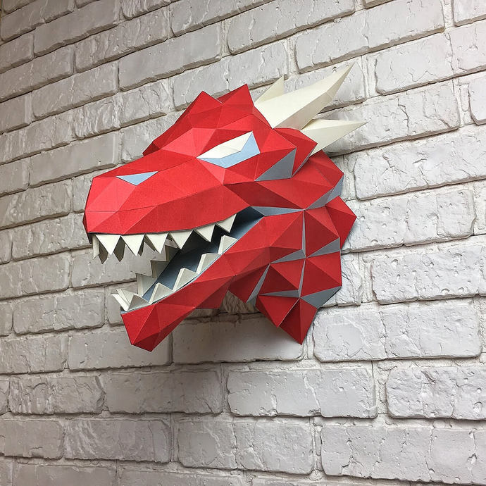 Game of Thrones, Winter is coming, Paper Dragon, Dragon Head, Papercraft Dragon,