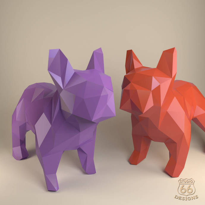 French Bulldog Paper Dog Papercraft By Studio66designs On Zibbet