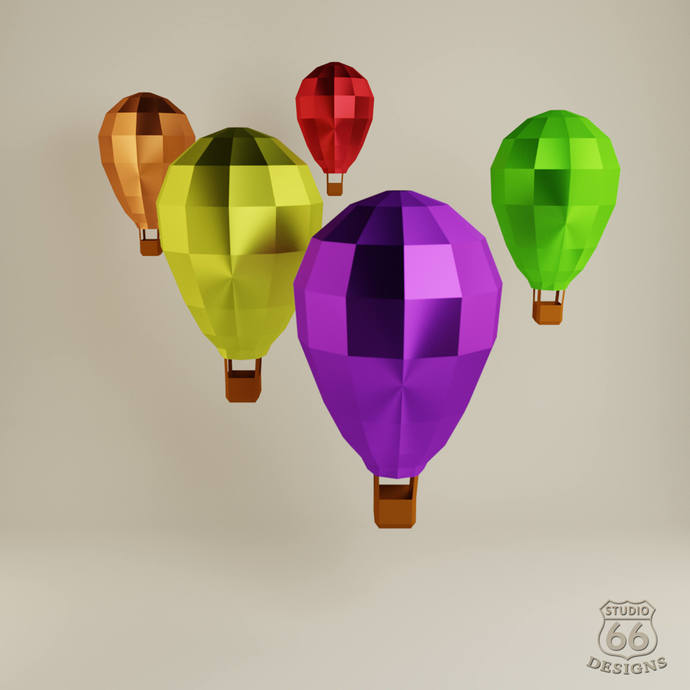 Single Hot Air Balloon Decoration Hot Air By Studio66designs On