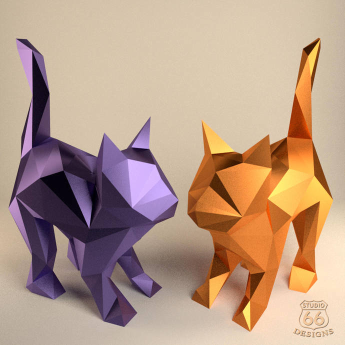 Stretch Cat, Papercraft Cat, Paper Kitten, Cute Kitten, Cat lover gift, Animal