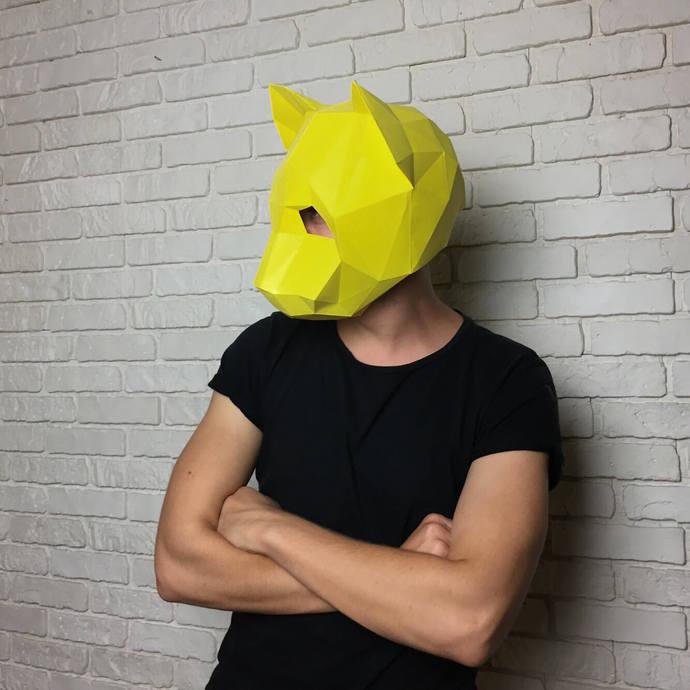 Cat Papercraft Mask - Party Mask - Cosplay Helmet - Cat Origami -  3D papercraft