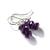 Amethyst Sterling Earrings Argentium Silver Earwires Faceted Rondelle Dark