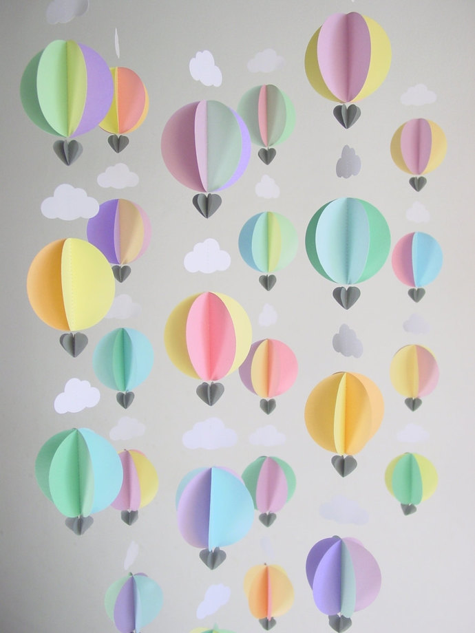 Party Pack Of Hot Air Balloon Garlands Party By Younghearts On