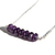 Amethyst Sterling Necklace Faceted Natural Gemstone Beads Stone Bar Necklace