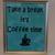 Coffee vinyl art