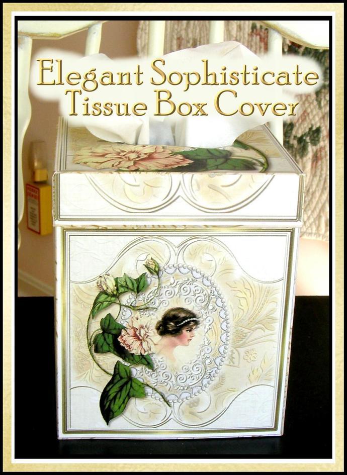 Elegant Sophisticate Kleenex Tissue Box by Seneca Pond Crafts on