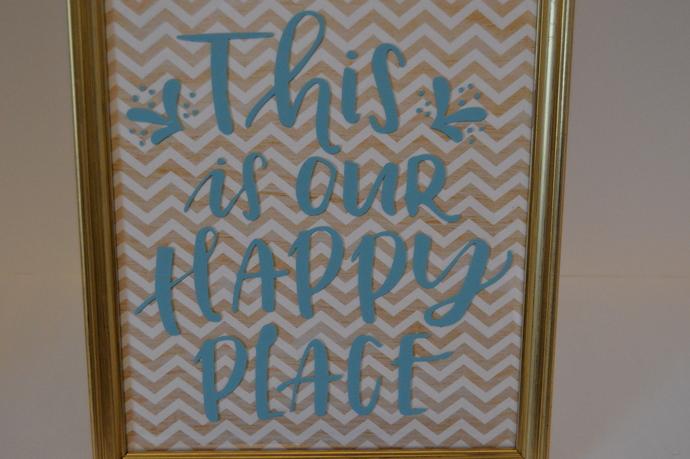 Our Happy Place Vinyl Art
