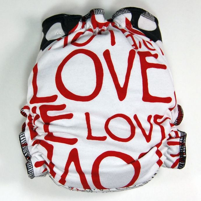 Size Large (20-40+lbs) Wind Pro - Love Notes with Polka Dots