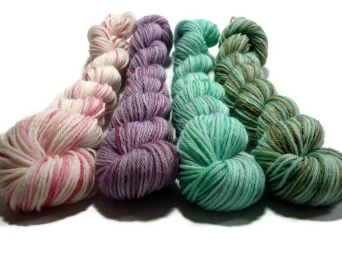Mini Skein Set - Cottage Garden - Garden Variety sock - 80wool/20nylon, Sock