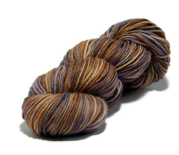 Hand dyed yarn - Autumn Haze - Harvest DK - 100% Wool, Superwash.