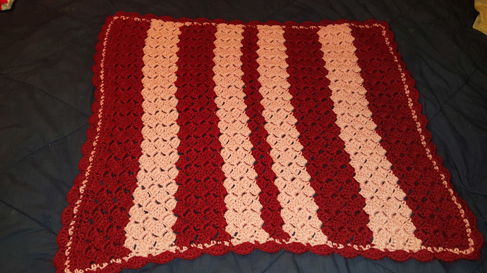 Handmade Crochet Baby Blanket By Yarnfish Crochet On Zibbet