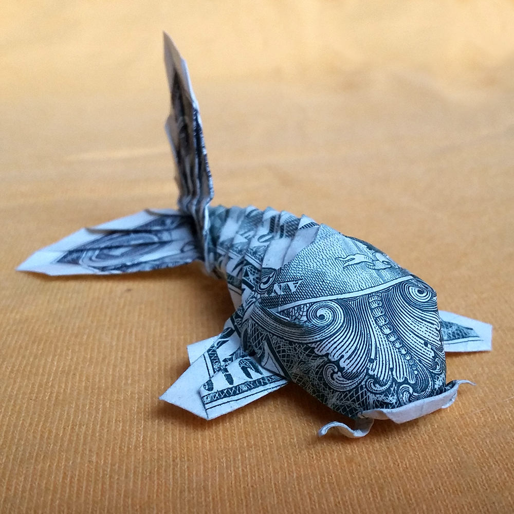 Origami sculpture koi fish 3d gift money by trinket2shop on zibbet jeuxipadfo Choice Image