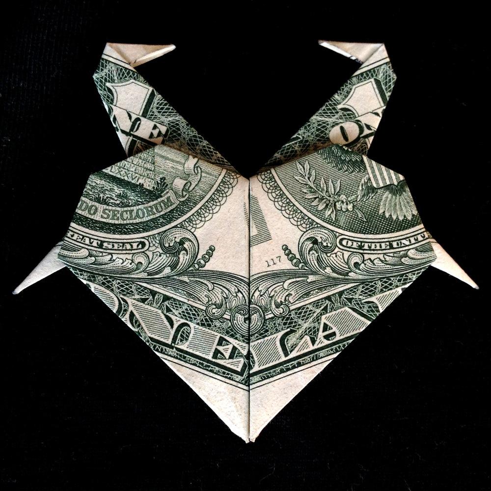 Origami heart with flamingos valentine day by trinket2shop on zibbet jeuxipadfo Images