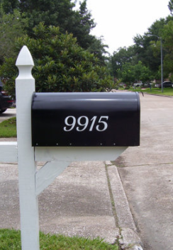 Mailbox Number vinyl decal- set of 2, vinyl numbers, number stickers, mailbox