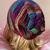 READY TO SHIP Crochet Dark Rainbow Lightweight Slouchy Hat - Women's / Teens