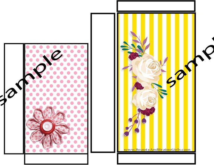 2 per Page- Folded POCKETS- Art Journal Pockets- Junk Journal Pockets