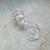 Ear Cuff Aurora White Swarovski Crystal Pearl