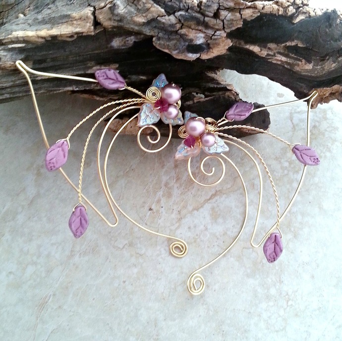 Pink Elf Ear Cuff Wraps Princess Nadia Elven Ear Cuffs