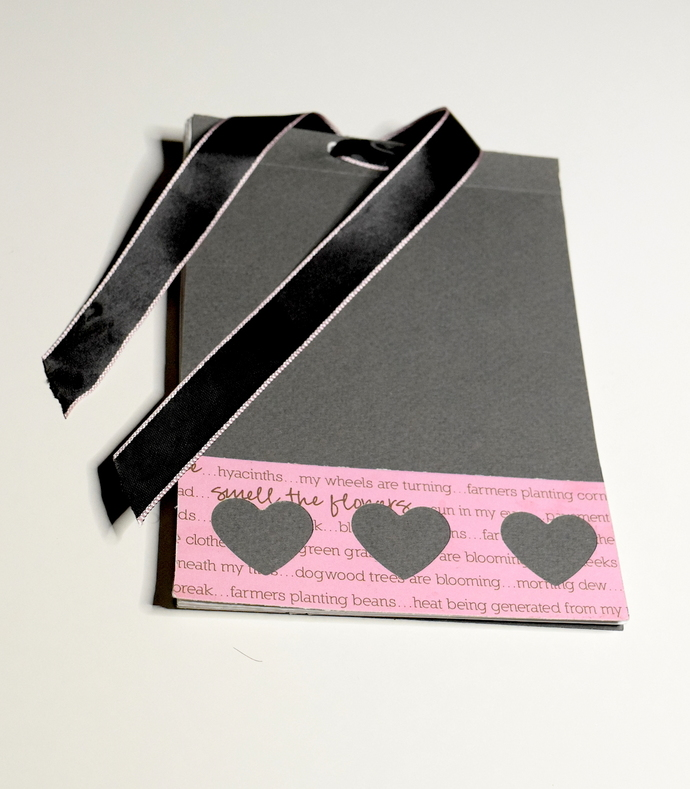 Refillable Grey Heart Notebook