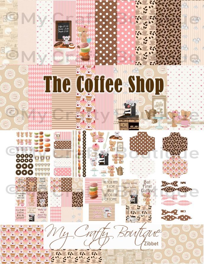"""""""The Coffee Shop"""" Printable Kit"""