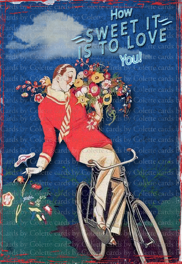 How Sweet It Is Digital Collage Greeting Card1030