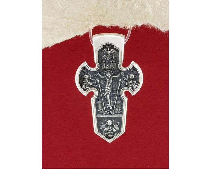 Sterling Silver Handmade Jesus Cross Pendant/Religious pendant for