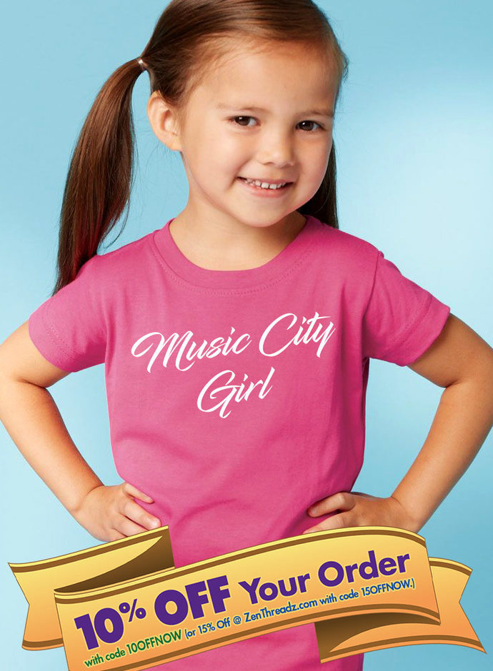 music city girl toddler shirt or onesie  |  tennessee baby gift