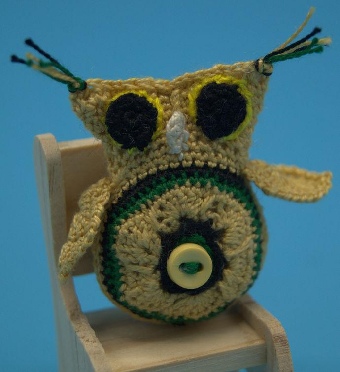 Micro Crochet Owl Amigurumi/Crochet Owls/Stuffed animals