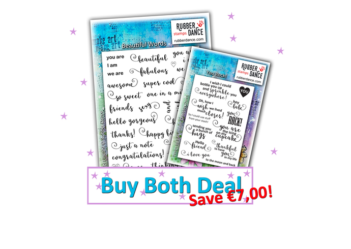 Buy Both Deal - Beautiful Words & You Rock!