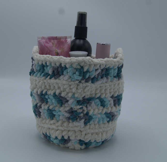 Crochet Basket/Multipurpose Crocheted Round Basket
