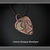 Copper Brass MOON Guitar Pick Hand Fabricated Pendant Necklace