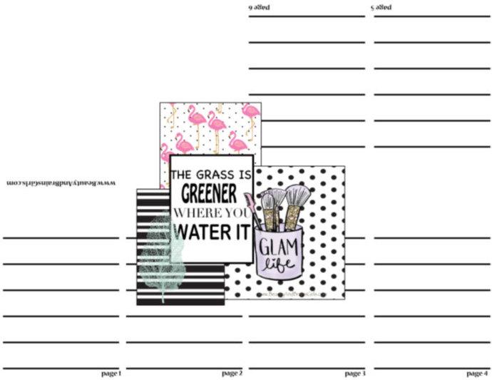 TERRY FREE PDF Zine Book  QUOTE3 -Scrapbooking Digital Paper Frame-Scrapbook