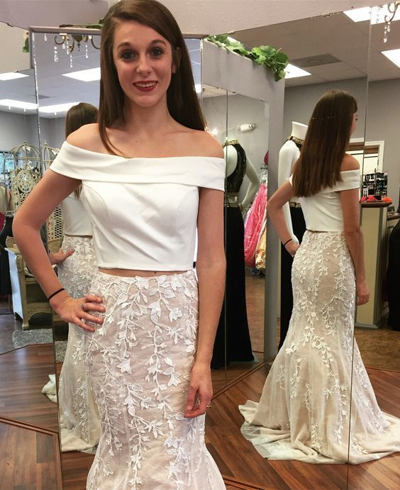 Off White Prom Dresses 2018