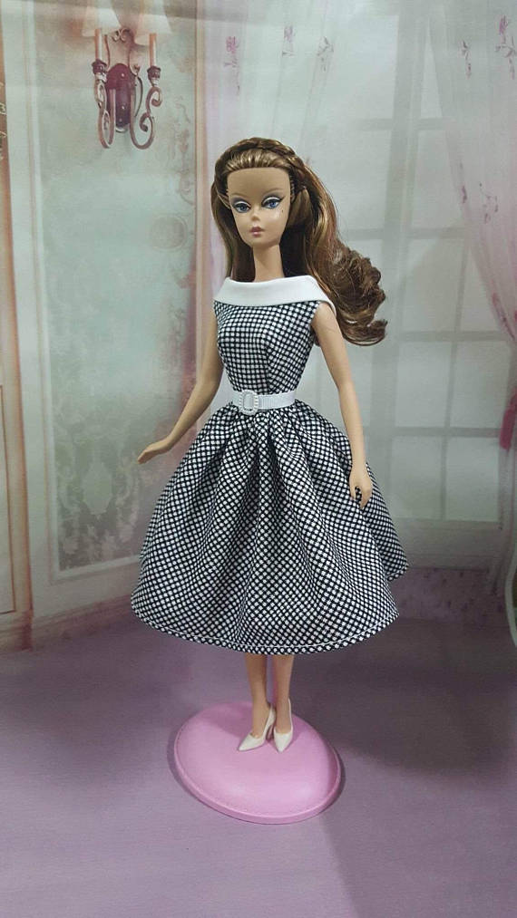 Handmade Vintage Barbie Doll Dress for by EmmalineDollClothes on