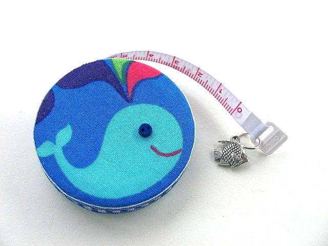 Measuring Tape with Blue Whales Pocket Tape Measure