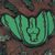Green Tree Python - mixed media canvas