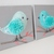 SALE! Pompom Bird Canvas for Nursery,3D Pompom Bird Canvas Wall Art Set of 2