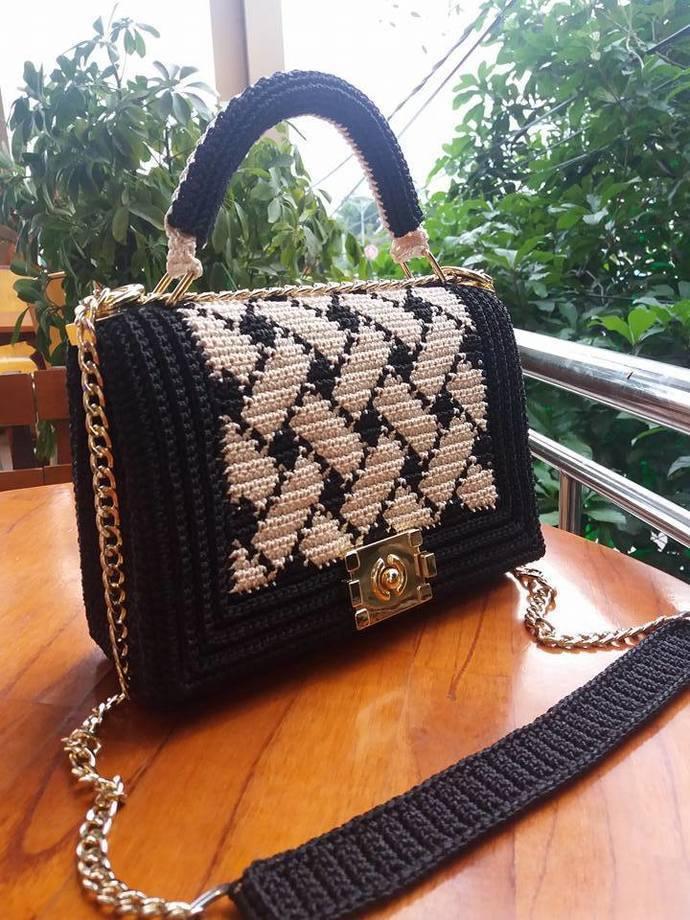 Unique handbag, 100% handmade