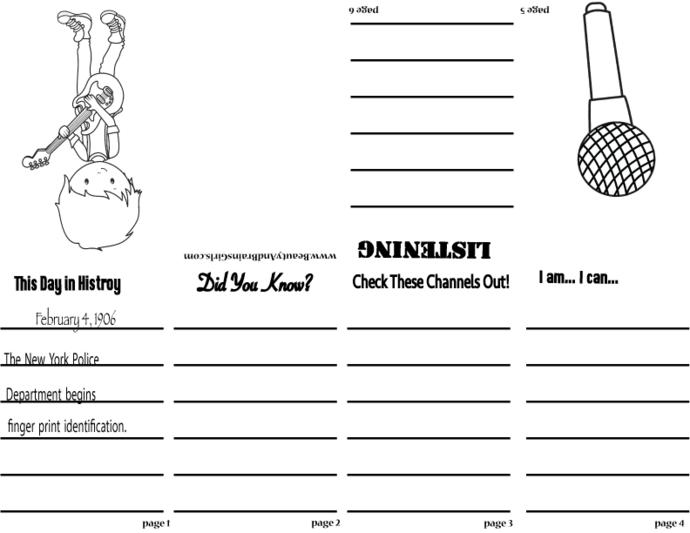 PDF Zine LUAU  Book  QUOTE3 -Scrapbooking Digital ZINE Frame-Scrapbook Art