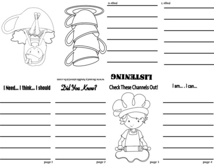 PDF Mermaid  Zine  Book  -Scrapbooking Digital ZINE Frame-Scrapbook Art Journal
