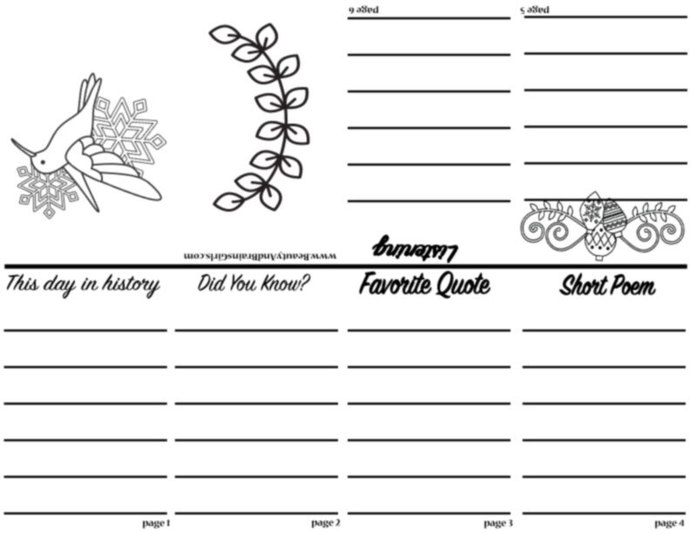 PDF   Zine  Book  -Scrapbooking Digital ZINE Frame-Scrapbook Art Journal Zine