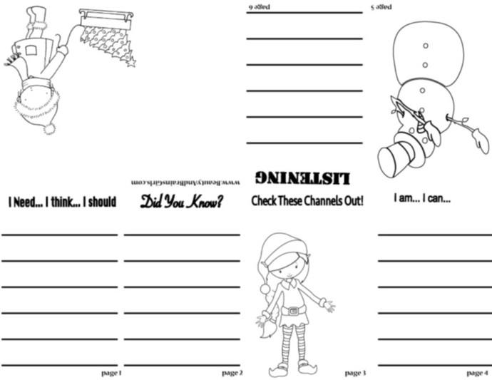 FASHIN GIRLS PDF Zine  Book  -Scrapbooking Digital ZINE Frame-Scrapbook Art