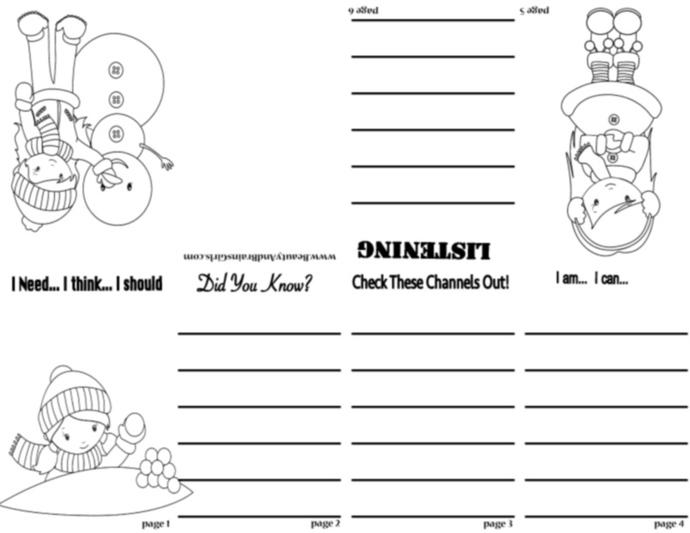 FREE BALNK PDF Zine  Book  -Scrapbooking Digital ZINE Frame-Scrapbook Art