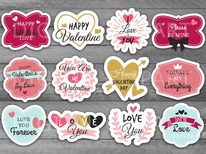 photograph about Valentine Labels Printable known as Exclusive Valentines Working day Printable Label Variety, Valentine Tag, Crimson Middle, Labels and Stickers PDF, JPEG, PNG, Valentine present, Prefer Tags