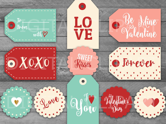 Unique Valentine S Day Printable Tags By Holidaypartystar On