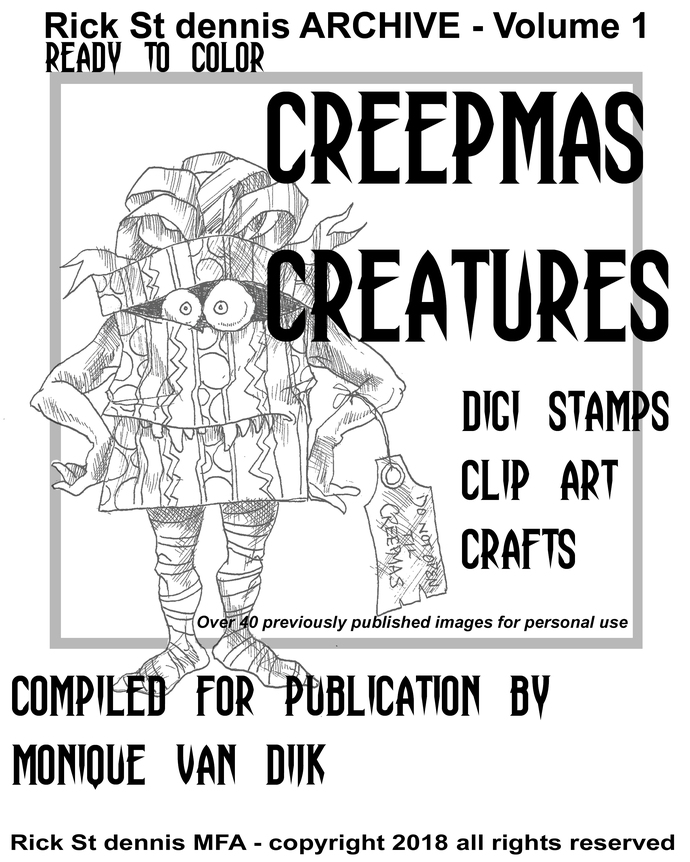Creepmas Creatures  Archive  vol 1 download coloringbook