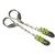 Peridot Sterling Earrings Long Chain Dangle Earrings Faceted Light Green