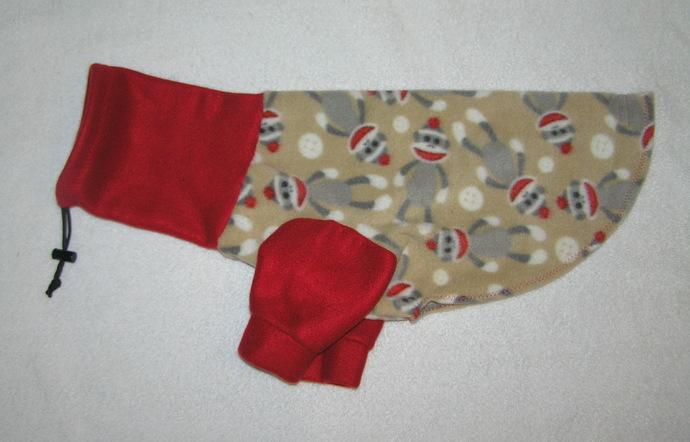 Sock Monkey Dog Sweatshirt - Snoodie Sweatshirt