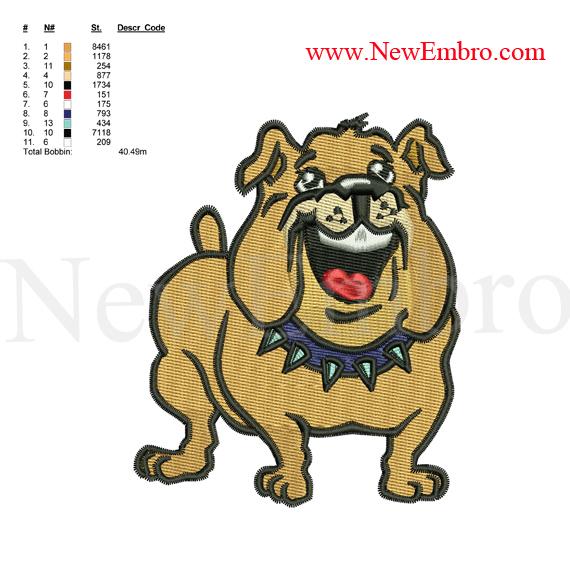 Custom Embroidery Designdog Embroiderycustom By Newembro On Zibbet
