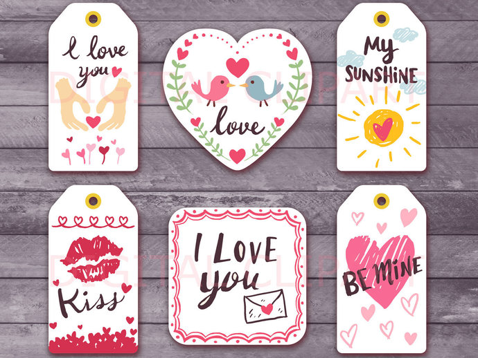 Unique Valentine S Day Printable Tags And By Holidaypartystar On